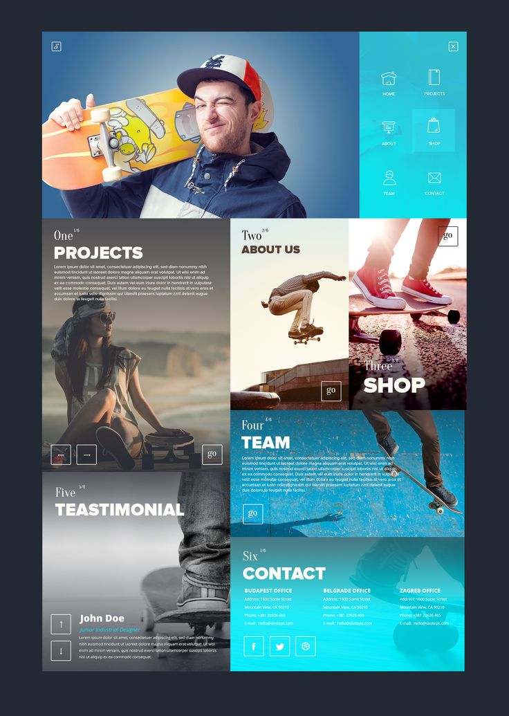 SixSteps Homepage Design by Vladimir Babic