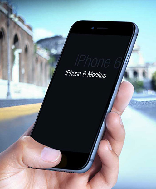 Free iPhone 6 and iPhone 6 Plus Mockup Templates (PSD, AI & Sketch) - Free Download - 41